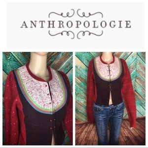 Anthropologie Monogram HWR Cardigan Sweater